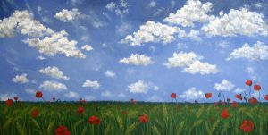 poppies and sky by oxanaart