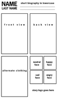 Refsheet Template: printable by MyNameIsMad