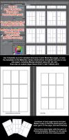 Manga Studio Clip Studio Paint 5 EX5 Pg Templates by lizstaley