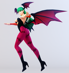 Morrigan 3DS Render by x2gon