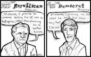 Political Cartoon by queenmari