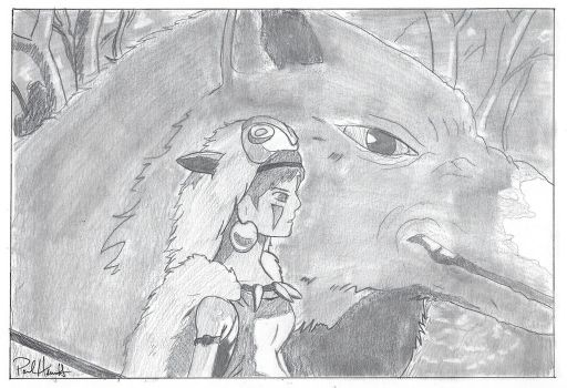 Princess Mononoke by PaulHewittArt