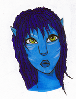 My first Na'Vi Drawing by Hearts-Are-Cold