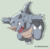 Rhydon used Horn Drill by Beetrootman
