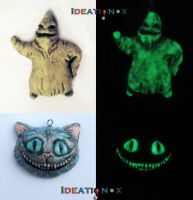 Glow Paint fun! Oggie Boogie - Cheshire Cat Charms by Ideationox