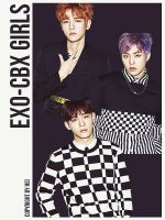 EXO-CBX GIRLS 3P png by hyukhee05