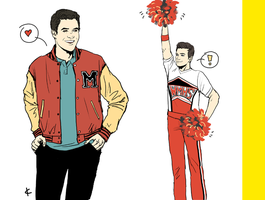 Glee FanArt: GO TEAM! by NinaKask