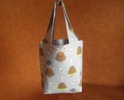 A volcanic project bag. Sac a ouvrage volcanique by AnneKo