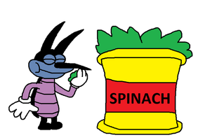Joey eats Spinach by Super-Marcos-96