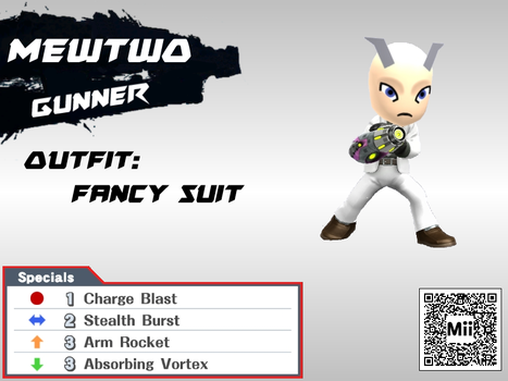 DLC Mii Fighter Recreations: Mewtwo by Cheatster9000x