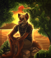 By the River by That-CrazyCat