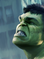 hulk painting by perlaque