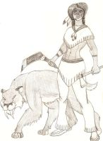 Lady with a Big Cat by BrandonSPilcher