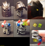 06 Knights Kingdom Helmet on Bionicle G2 Head by ShadowWolfHount