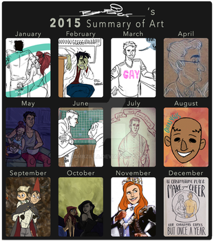 Bambzilla's 2015 Art Summary by bambzilla