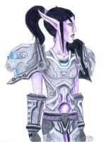 WoW Night Elf Warrior by Efferd