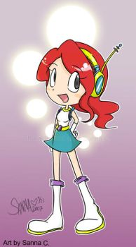 Space Red Head Girly Character by sanna-mania