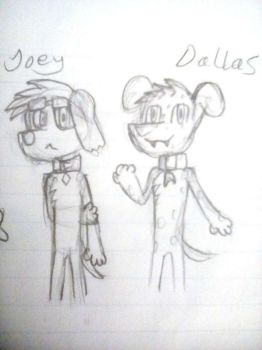 March Sketch 3 and 4 - Joey and Dallas by CrazyRatopia
