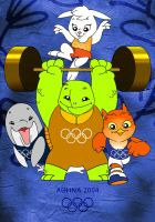 ATHENS 2004 OLYMPIC MASCOTS by Dimkas