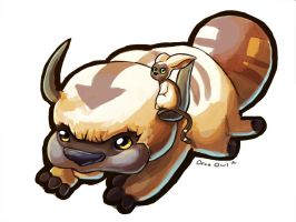 Appa + Momo Keychain by OrcaOwl