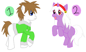 Adoptable Ponies Closed by Ame--Tan