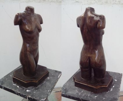 Bronze coloured plaster cast by sedra60