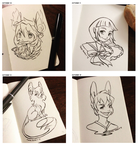 (Inktober 2015) 10th to 13th by Paper-Rabbit