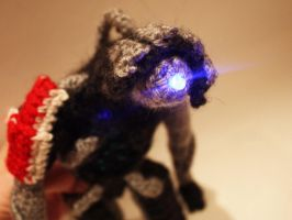 Mass Effect Legion Amigurumi Lens Flare by diygeekess