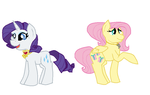 MLP:NG: Future Fluttershy and Rarity by Maddi-Sans