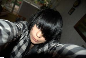 Me whit my Black Hair by LooveCookies