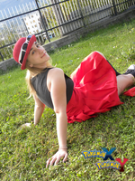 Resting (Yvonne/Serena cosplay) by InvisibleJune