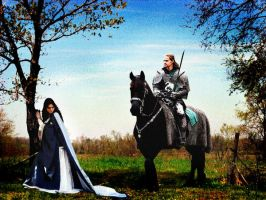 Lancelot And Queen Guinevere by PridesCrossing