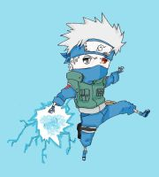 Kakashi chibi raikiri colored by abbott38