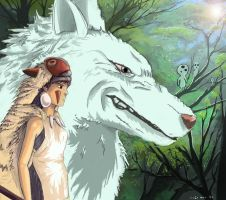 Princess Mononoke by parkurtommo