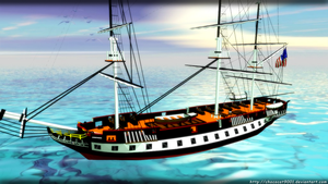 US Constitution Battleship - MMD Acc DL by chococat9001