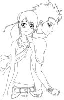 Toshiro and Momo - Lineart by complicatedd0928