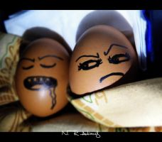 sleeping annoying EGG by nhiqiyut-photography