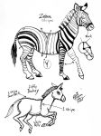 Draw Zebra and Donkey by Diana-Huang