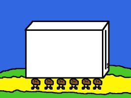 Goombas carrying the Wii by DragonQuestWes