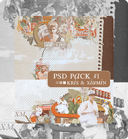 [PSD Pack #1] EXO's Kris and Xiumin by bluebbeee