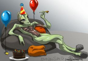 Birthday Suit Salarian by Techta