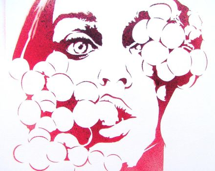 Let Her Eat Grapes Stencil by abcartattack