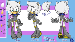 Night The Hedgehog REF by NightmareMiku