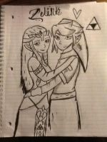 Zelink lineart by Allicat1400