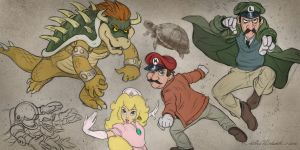 Mario-brothers by AntsArtPile