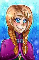 Frozen: Anna by Blue-Fayt
