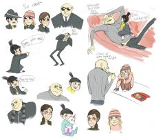 Despicable Sketchdump by Skellagirl