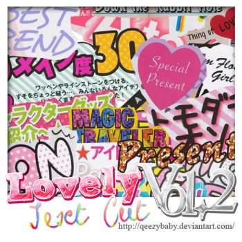 Lovely Text Cut PNG Vol2 by qeezybaby