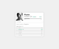 Clean Music Player by BlakeCeeno