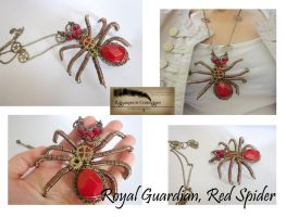 Mecanical steampunk creature royal guardian spider by Rouages-et-Creations
